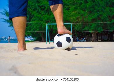 I play beach football