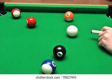 Play the billiard