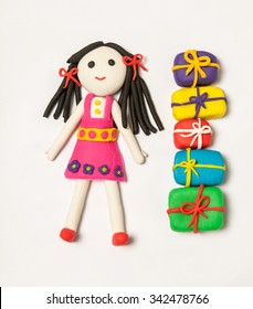 play dough gift box female figure