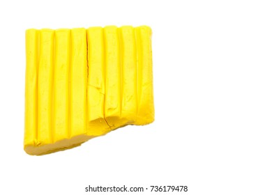Play dough on white background