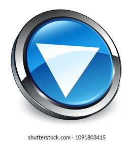 Play icon isolated on 3d blue round button abstract illustration