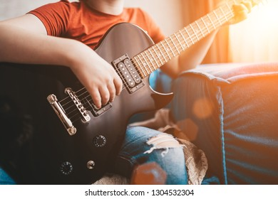 Play on electric guitar - rock