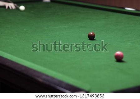 Play Snooker Friends Focus Spot Snooker Stock Photo (Edit