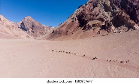Playa ancha on the way to plaza de mulas