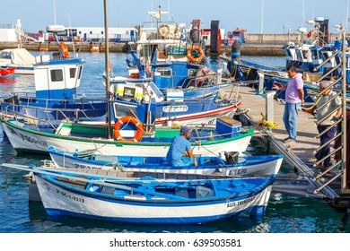 Playa Blanca, Lanzarote, 03 April, 2017: Boats and Yachts in Rubicon Marina, Lanzarote, Canary Islands, Spain