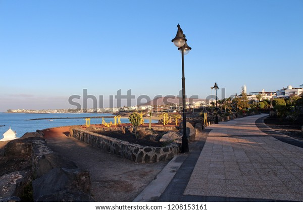 Playa Blanca in Lanzarote, in Canary Island, Spain