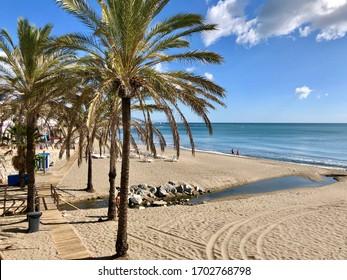 Playa de Bil-Bil in Arroyo de la Miel, Benalmadena, Costa del Sol, Andalusia, Spain