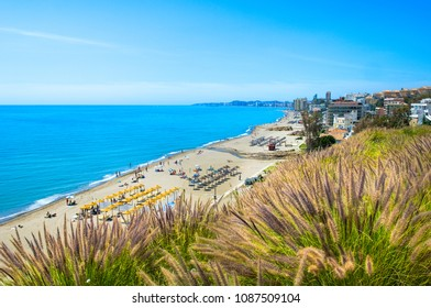 Playa de Carvajal, Fuengirola, Costa del Sol Occidental, Malaga, Andalusia, Spain, Iberian Peninsula