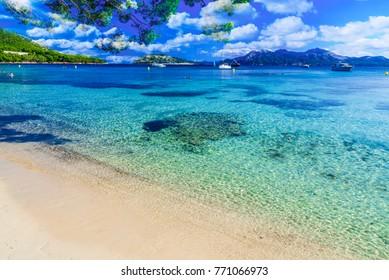 Playa de Formentor (Cala Pi de la Posada ) - beautiful beach at Cap Formentor, Palma Mallorca, Spain