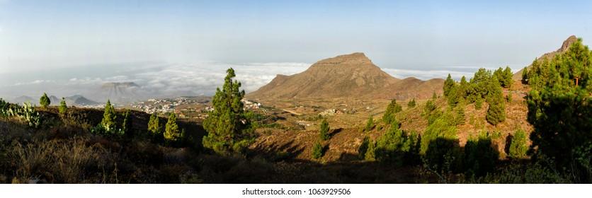 Playa de Las Americas panorama from Teide