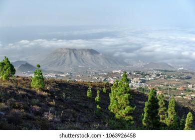 Playa de Las Americas view from Teide National Park spot