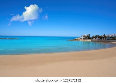 Playa de las fuentes beach in Alcossebre also Alcoceber of Castellon spain