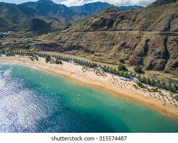 Playa de Las Teresitas, a famous beach near Santa Cruz de Tenerife