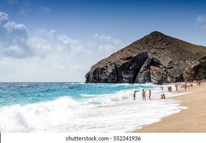 Playa de los Muertos, Los Muertos Beach, Almeria, Spain.
