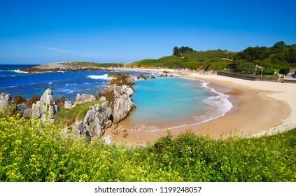 Playa de Toro beach in Llanes of Asturias Spain