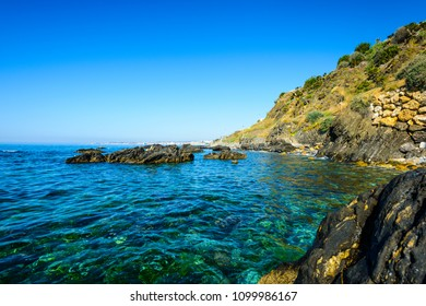 Playa de Torremuelle, Benalmadena, Costa del Sol Occidental, Malaga, Andalusia, Spain, Iberian Peninsula