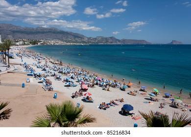Playa del Albir entre Altea y Alfaz del Pi. Alicante