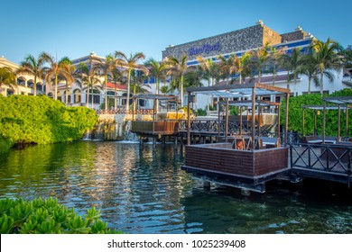 Playa Del Carmen, Mexico - March 18, 2017: The main lobby at the Hard Rock Riviera Maya, a relaxing tropical resort near Playa Del Carmen, Mexico.