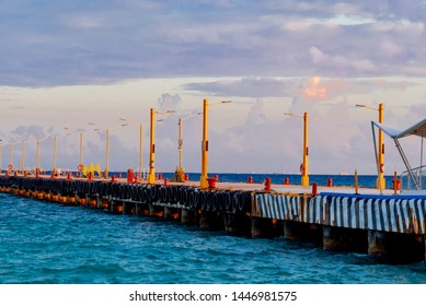 Playa del Carmen, Yucatan - February 10 2019:town of playa del carmen in Mexico small Caribbean sea town surrounded by tropical beaches