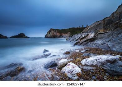 Playa del Cuerno, in Salinas- Asturias north of Spain