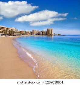 Playa del Cura beach in Torrevieja of Alicante Spain at Costa Blanca