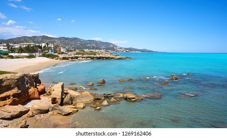 Playa del Moro beach in Alcossebre also Alcoceber in Castellon of Spain