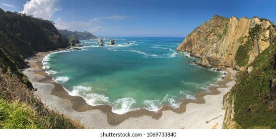 Playa del Silencio (Silencio beach), Asturias, Spain.