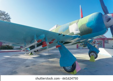 playa giron, Cuba - January 2, 2017: playa giron museum entry with war airplane