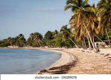 Playa Larga beach, Bay of Pigs, Matanzas, Cuba. Site of the American invasion of 1961.