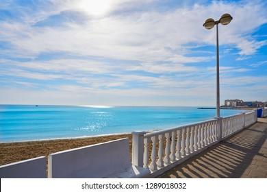 Playa los Locos beach in Torrevieja in Alicante Spain at Costa Blanca