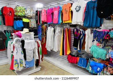 Playacar; United Mexican States - may 20 2018 : the Viva Wyndham Maya hotel souvenir shop