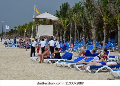 Playacar; United Mexican States - may 20 2018 : the Viva Wyndham Maya hotel seaside