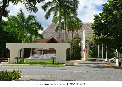 Playacar; United Mexican States - may 20 2018 : hotel in the picturesque city