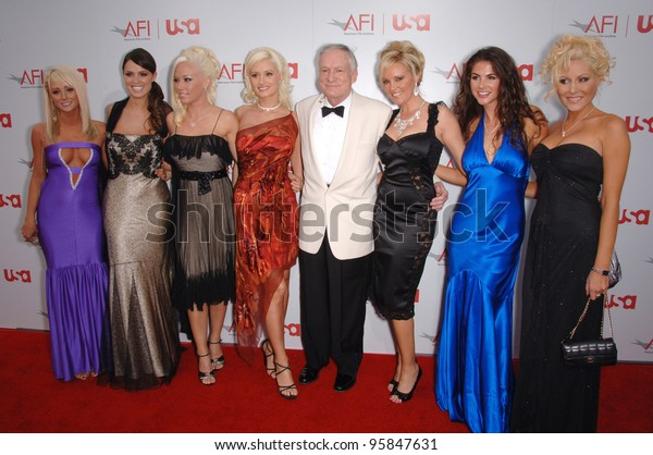 Playboy Founder Hugh Hefner Friends 34th Stock Photo Edit Now 95847631