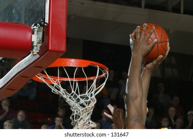 player about to dunk