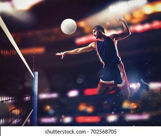 Player beats ball