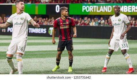 Player on Field - MLS CUP - 12-08-2018 Atlanta United Vs. Portland FC in Atlanta Georgia Mercedes Benz Stadium