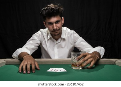 Player at the Poker table.