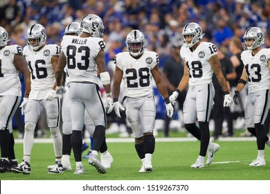 Players of the field - Indianapolis Colts host Oakland Raiders on Sept. 29th 2019 at Lucas Oil Stadium in Indianapolis, IN. - USA