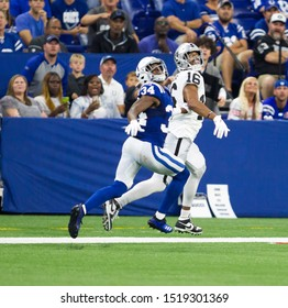 Players - Indianapolis Colts host Oakland Raiders on Sept. 29th 2019 at Lucas Oil Stadium in Indianapolis, IN. - USA