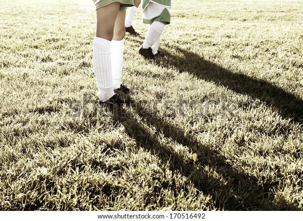 Players Legs, Soccer, Football, Field, Girl's