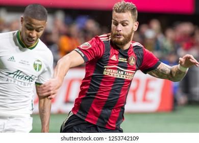 Players on Field - MLS Championship - Atlanta United FC Vs. Portland Timbers FC in Atlanta Georgia USA Mercedes Benz Stadium December 08th 2018