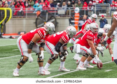 Players on the field - NCAA Division 1 Football University of Maryland Terrapins  Vs. Ohio State Buckeyes on November 11th 2019 at the Ohio State Stadium in Columbus, Ohio USA