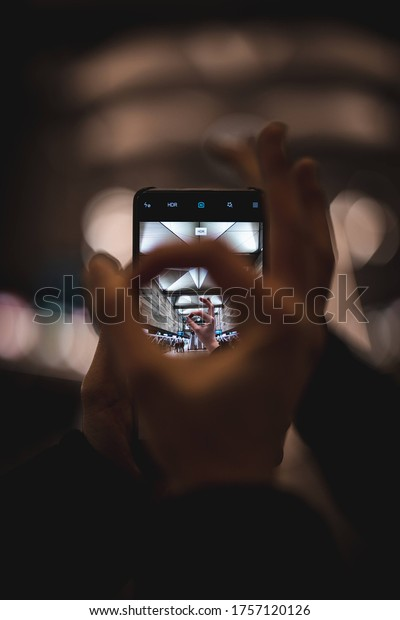 playful hands and a smartphone