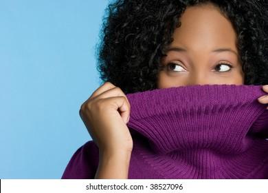 Playful Sweater Woman