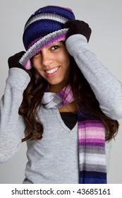 Playful Winter Teen