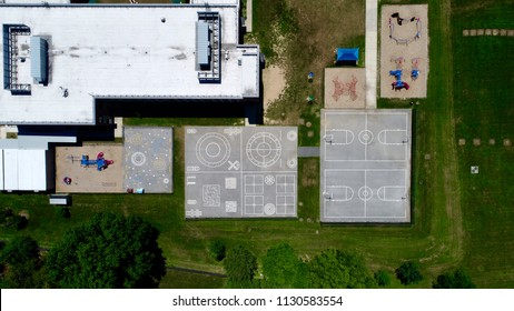 Playground blacktop from above