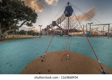 A playground for children in the new residential area of Ashkelon. Israel.