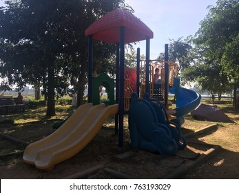 Playground The children are playing with fun and learning to improve their skills and movements in various fields.