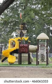 Playground for children in the public park